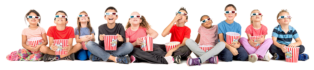 Home Page Kids with popcorn
